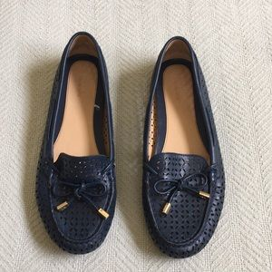 Blue, leather Michael Kors loafers